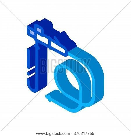 Intestinal Diagnostic Tube Icon Vector. Isometric Intestinal Diagnostic Tube Sign. Color Isolated Sy