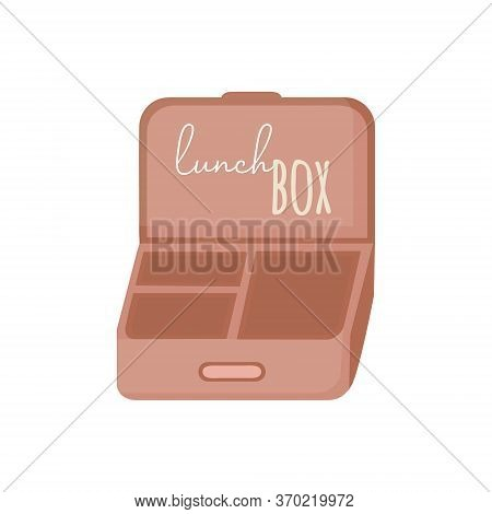 Lunch Box Container Vector Illustration Graphic. Hand Drawn Environment Friendly, Zero Waste Reusabl