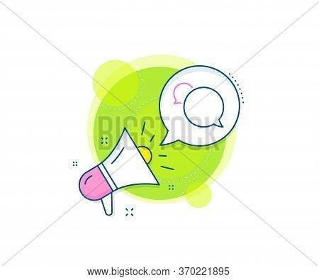 Speech Bubble Sign. Megaphone Promotion Complex Icon. Messenger Line Icon. Chat Message Symbol. Busi