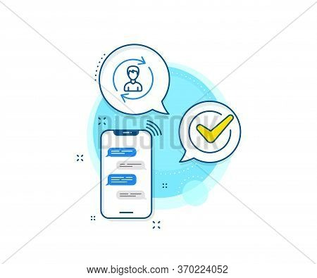 User Profile Sign. Phone Messages Complex Icon. Human Resources Line Icon. Male Person Silhouette Sy