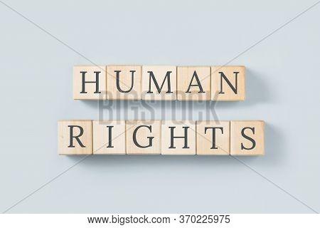 Human Rights Text On Grey, Minimal. Human Principles