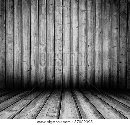 old wooden interior room.