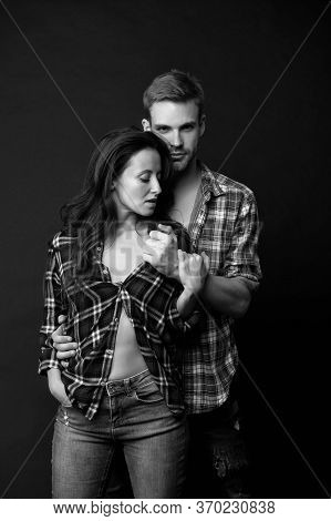 Undressing Slowly. Sexual Desire. Sensual Couple. Happy Valentines Day. Love Romance. Man And Girl P