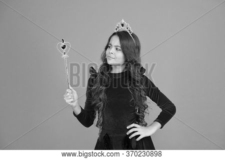 Want To See My Super Power. Magic Trick. Magic Stick Concept. Cute Kid Doing Magic. Amazing Miracles