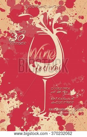Template With Wine Designs. Brochures, Posters, Invitation Cards, Promotion Banners, Menus. Wine Sta