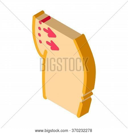 Abdominal Liposuction Icon Vector. Isometric Abdominal Liposuction Sign. Color Isolated Symbol Illus