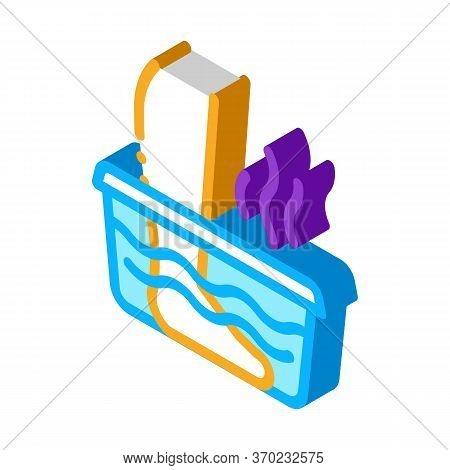 Steaming Foot Bath Icon Vector. Isometric Steaming Foot Bath Sign. Color Isolated Symbol Illustratio