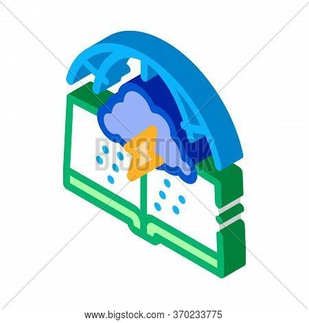 Meteorology Science Icon Vector. Isometric Meteorology Science Sign. Color Isolated Symbol Illustrat