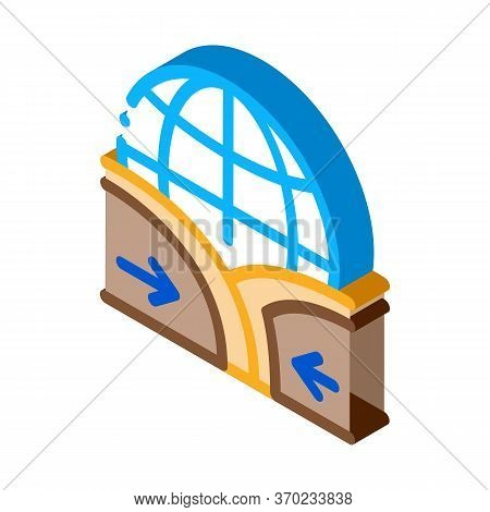 Global Action Ground Movement Icon Vector. Isometric Global Action Ground Movement Sign. Color Isola