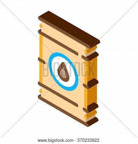 Tightly Closed Gas Barrel Icon Vector. Isometric Tightly Closed Gas Barrel Sign. Color Isolated Symb