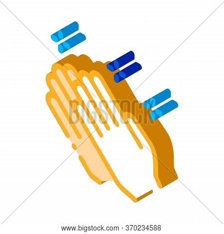 Praying Hands Icon Vector. Isometric Praying Hands Sign. Color Isolated Symbol Illustration
