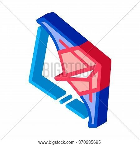 View Of Air Launch Aircraft Icon Vector. Isometric View Of Air Launch Aircraft Sign. Color Isolated
