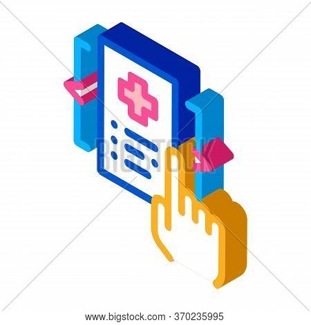 Medical Document Selection Icon Vector. Isometric Medical Document Selection Sign. Color Isolated Sy