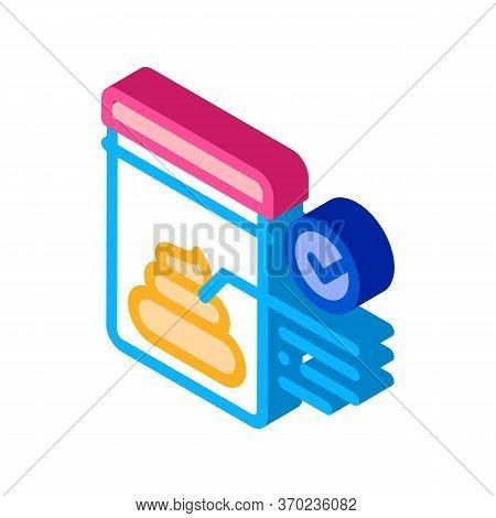 Feces In Vitro Test Icon Vector. Isometric Feces In Vitro Test Sign. Color Isolated Symbol Illustrat