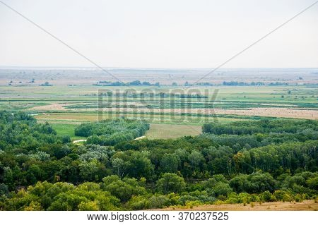Steppe, Not High Mountains Covered With Forests. Landscape