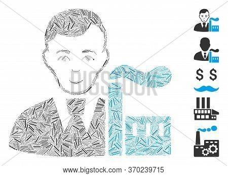 Dash Mosaic Based On Capitalist Oligarch Icon. Mosaic Vector Capitalist Oligarch Is Composed With Sc