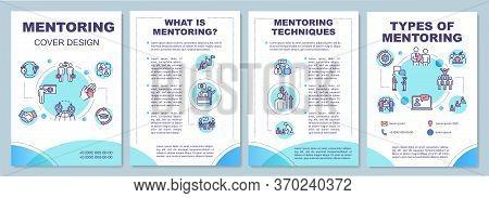 Mentoring Brochure Template. Corporate Leadership. Employee Guidance. Flyer, Booklet, Leaflet Print,