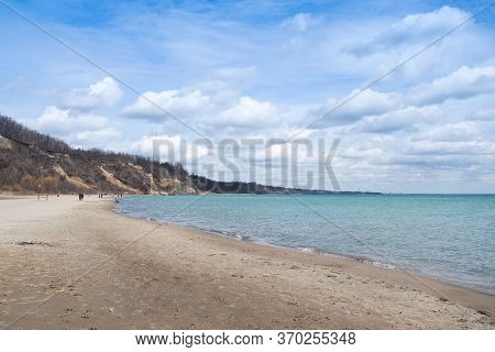 Scarborough Bluffs Beach On Shores Of Lake Ontario In Toronto Canada