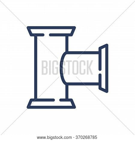 Oil Pipeline Thin Line Icon. Pipe, Gasoline, Petroleum Isolated Outline Sign. Oil And Gas Industry C