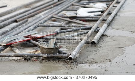 Steel For The Roof Structure, Frame For Building Construction