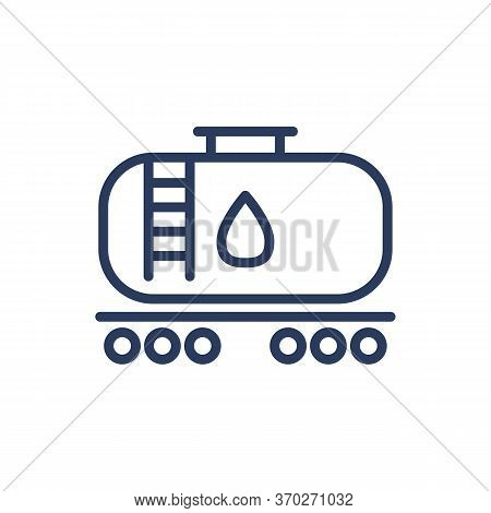 Oil Storage Tank Thin Line Icon. Extraction, Reservoir, Transportation Isolated Outline Sign. Oil An