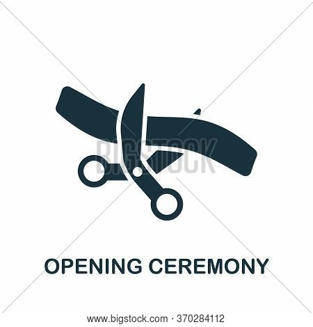 Opening Ceremony Icon. Simple Element From Business Organization Collection. Creative Opening Ceremo