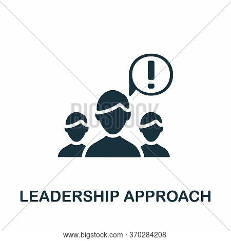 Leadership Approach Icon. Simple Element From Business Organization Collection. Creative Leadership