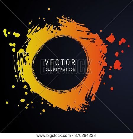 Vector Splats Splashes And Blobs Of Gradient Ink Paint In Different Shapes Drips