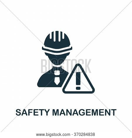 Safety Management Icon. Simple Element From Company Management Collection. Creative Safety Managemen