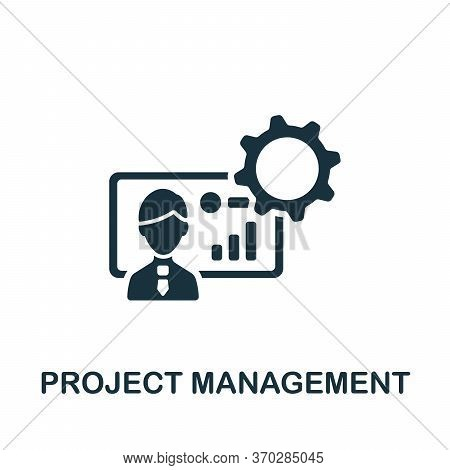Project Management Icon. Simple Element From Company Management Collection. Creative Project Managem