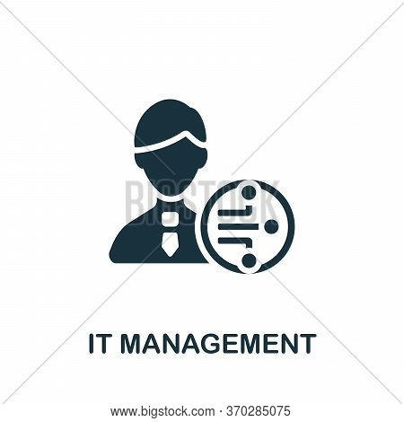 It Management Icon. Simple Element From Company Management Collection. Creative It Management Icon F