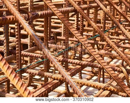 Metal Reinforcement Frame Of A Monolithic Reinforced Concrete Structure