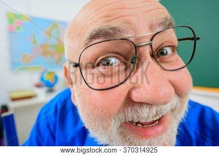 Back To School. Smiling Teacher In Glasses. Learning, Education, School Concept. September 1. Teache
