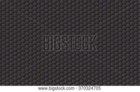 Sport Seamless Pattern Background. Golf Ball Texture In Black. Hexagons Background