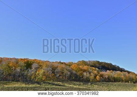 Panoramic View Of Niagara Escarpment In Autumn, Milton, Ontario, Canada.