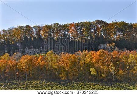 Niagara Escarpment In Autumn, Milton, Ontario, Canada.