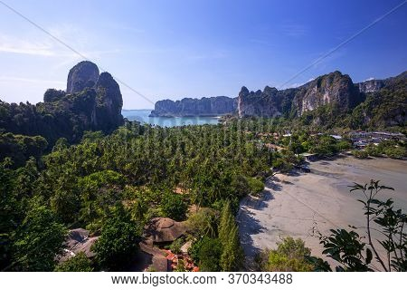 The Evening Sun In The Railay Viewpoint Paradise In Thailand