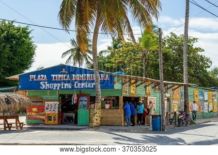 Santo Domingo, Dominican Republic - March 11, 2020: Small Dominican Souvenir Shops For Tourists, Loc