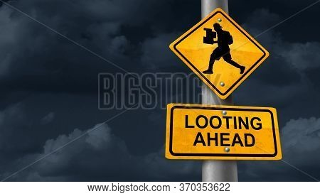 Looting Concept And A Symbol Of A Looter During A Protest Or Riot Stealing With 3d Illustration Elem