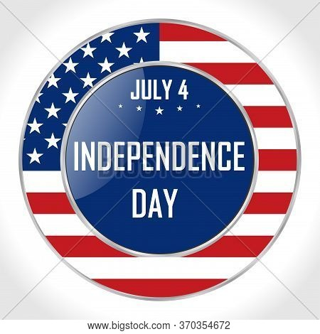 United States Of America Independence Day Traditional Annual July 4th Holiday, Vector Poster. All El