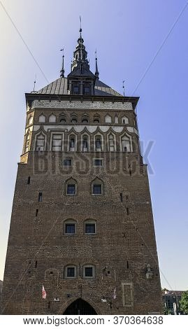 Gdansk, Pomerania, Poland - August 26: Old Prison Tower And Torture Chamber (amber Museum) On August