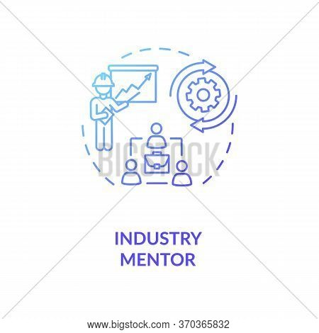 Industry Mentor Concept Icon. Professional Mentorship And Guidance Course Idea Thin Line Illustratio