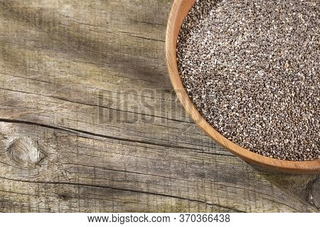 Organic Chia Seeds - Salvia Hispanica. Text Space
