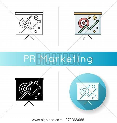 Marketing Strategy Icon. Corporate Project Presentation. Objective For Growth. Presentation On Targe