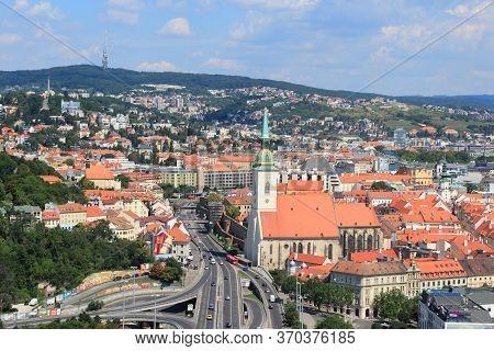 Bratislava, Slovakia - August 9, 2012: Cityscape Of Bratislava, Slovakia. Bratislava Is The Most Pop