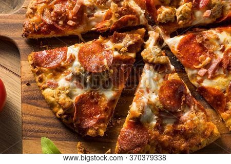 Savory Homemade Meat Lovers Pizza