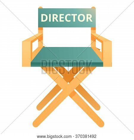 Stage Director Chair Icon. Cartoon Of Stage Director Chair Vector Icon For Web Design Isolated On Wh