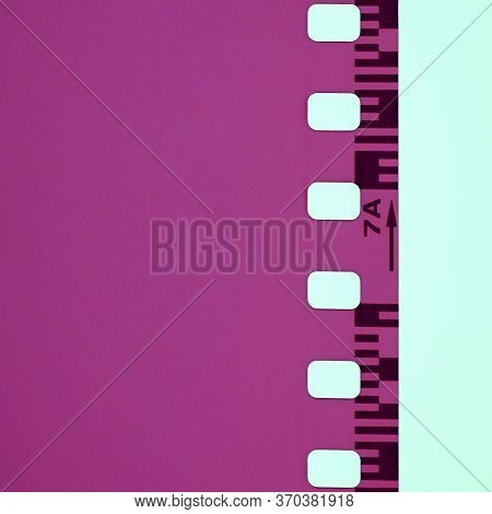 35mm Negative Film With Copy-paste Space For Text. Minimalist Image Of A Negative Film.