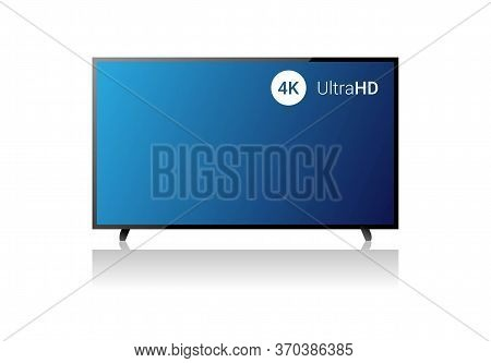 4k Tv Vector Screen. Uhd Sign. Tv Ultra Hd Resolution Format. Isolated Illustration. Ultra Hd Tv. Cr