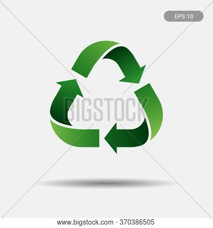 Recycling Icon, Logo Isolated On White Background. Recycle Logo In Vector In Issolated Background. G